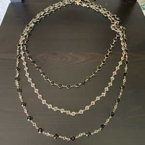 WHBM Long Multi-Layered Beaded Necklace